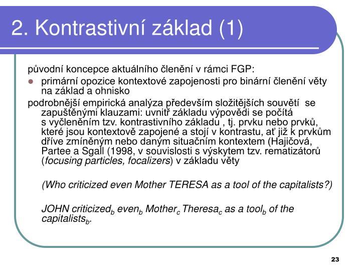2. Kontrastivní základ (1)