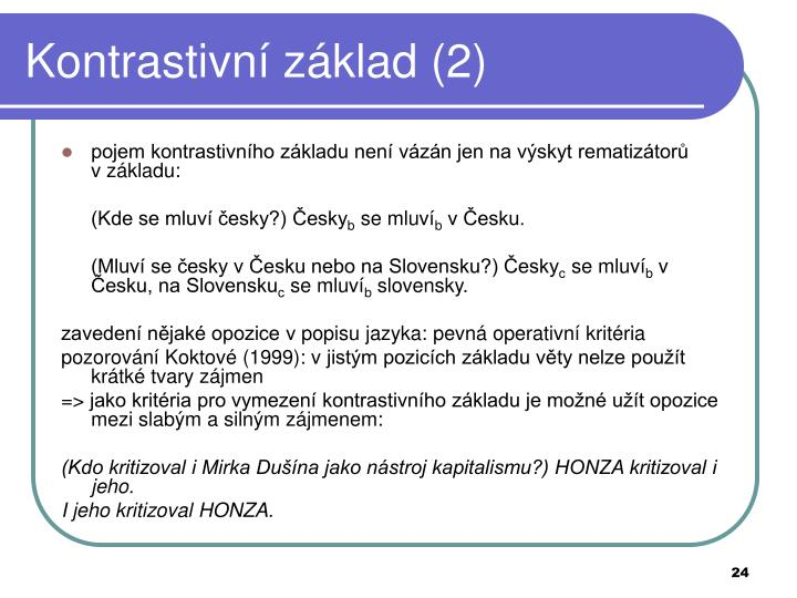 Kontrastivní základ (2)