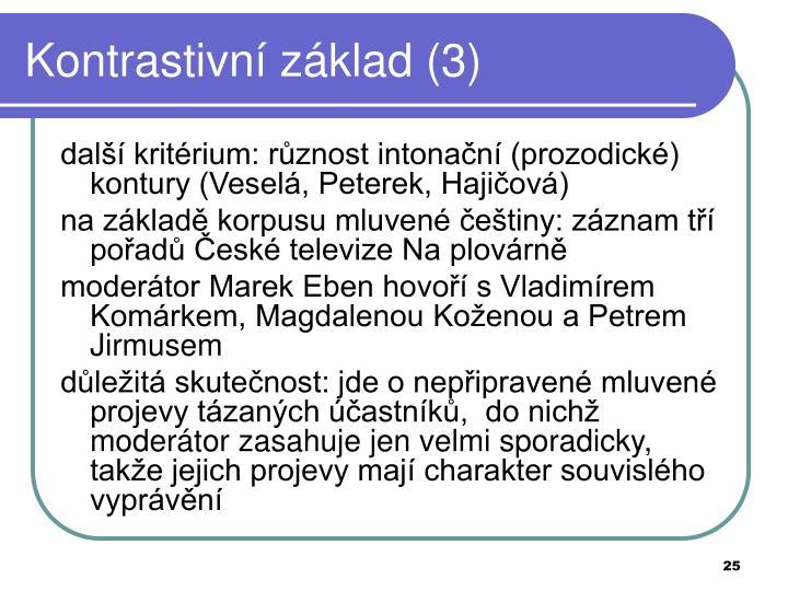 Kontrastivní základ (3)