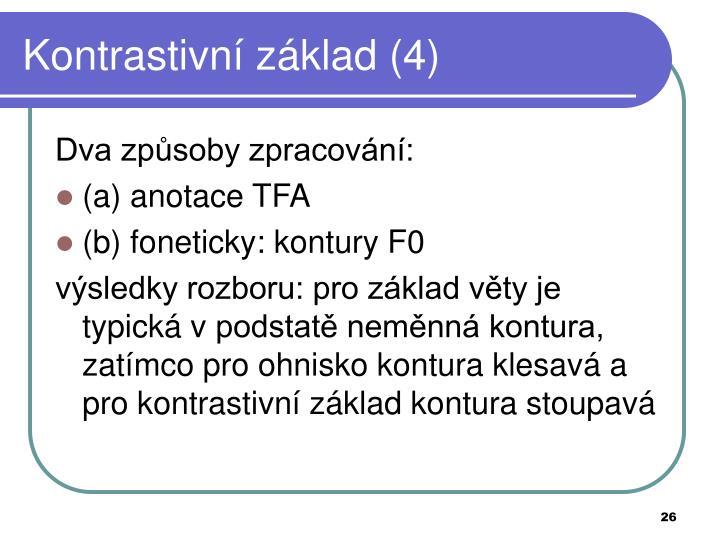 Kontrastivní základ (4)