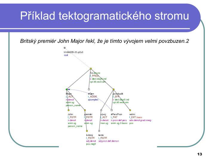 Příklad tektogramatického stromu
