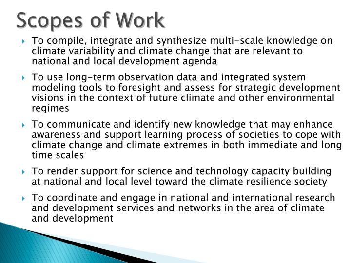 Scopes of Work