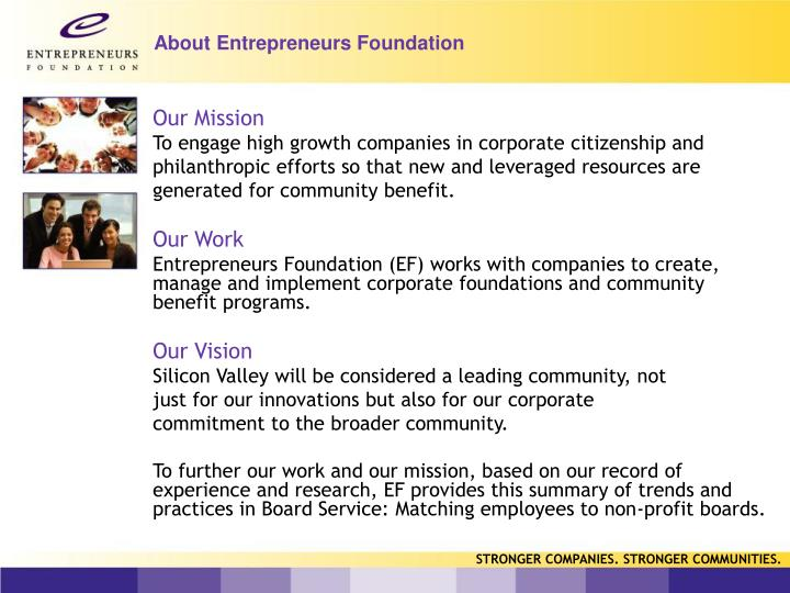 About entrepreneurs foundation
