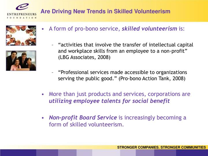 Are Driving New Trends in Skilled Volunteerism
