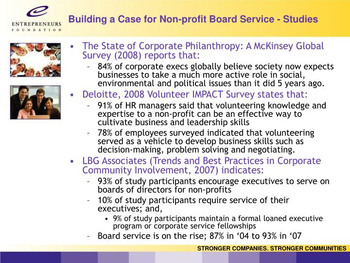 Building a Case for Non-profit Board Service - Studies