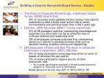 building a case for non profit board service studies