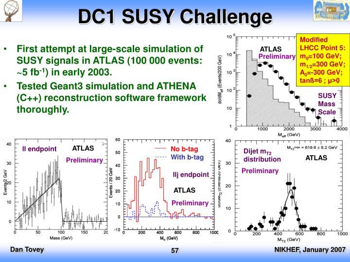 DC1 SUSY Challenge