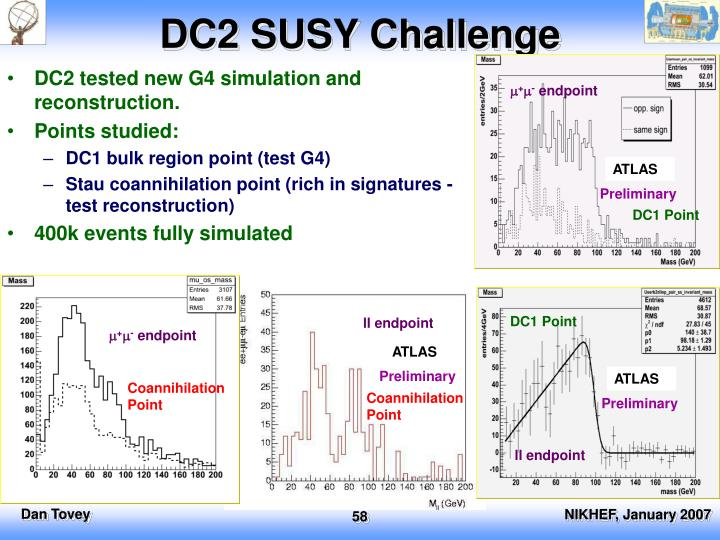 DC2 SUSY Challenge