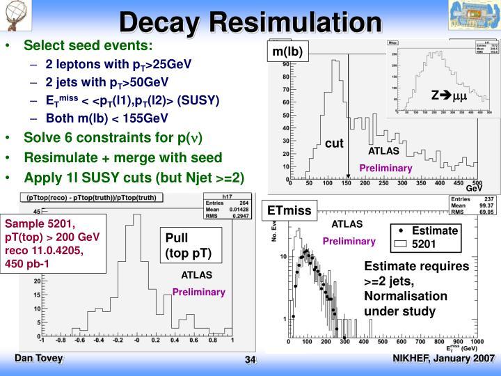 Decay Resimulation