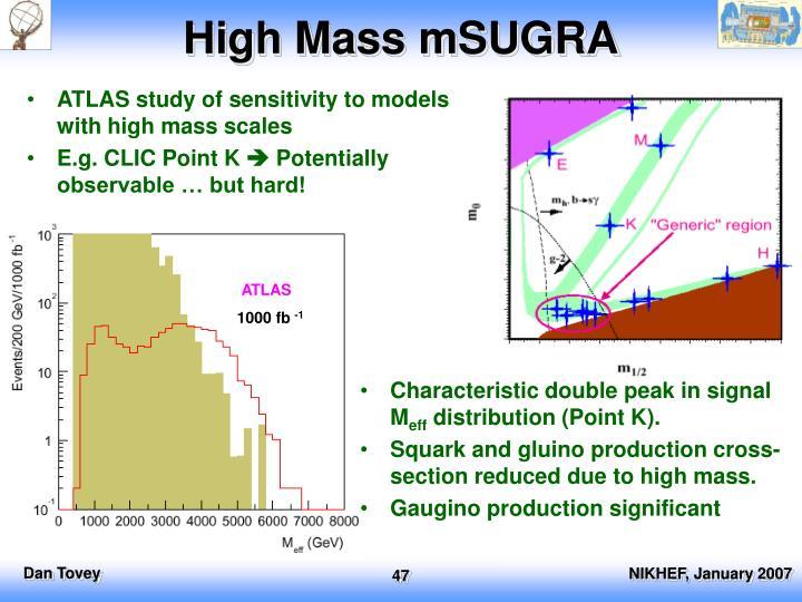High Mass mSUGRA