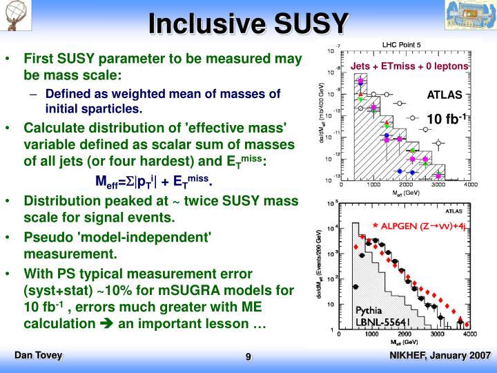 Inclusive SUSY