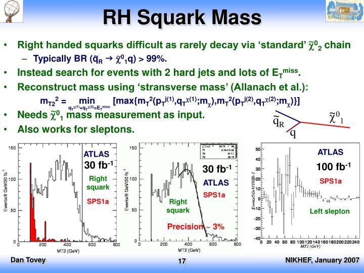 RH Squark Mass