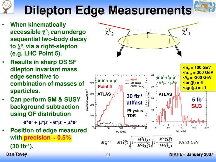 Dilepton Edge Measurements