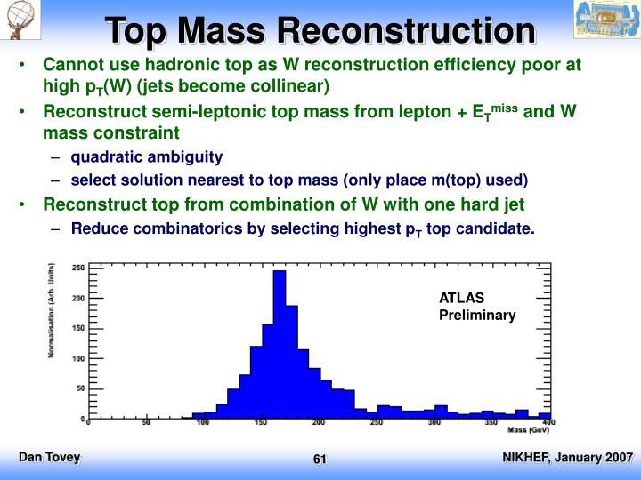 Top Mass Reconstruction