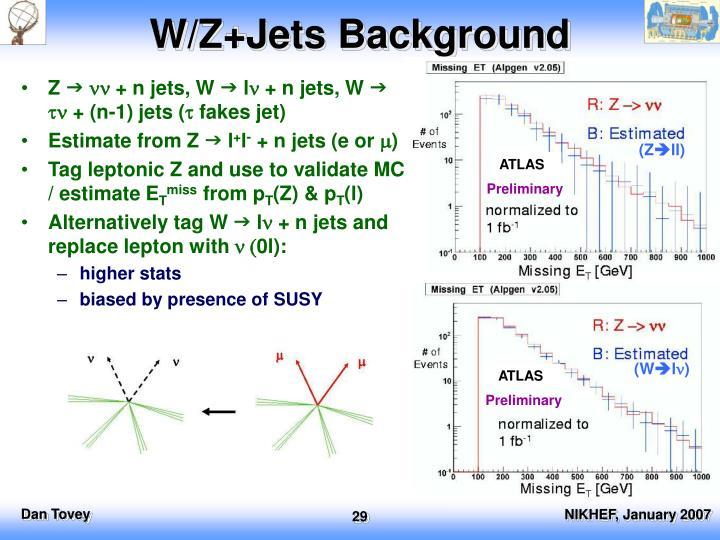 W/Z+Jets Background