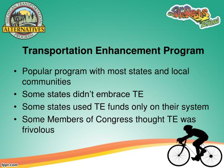 Transportation enhancement program