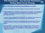 film distribution key success parameters hinduja media group strategy1