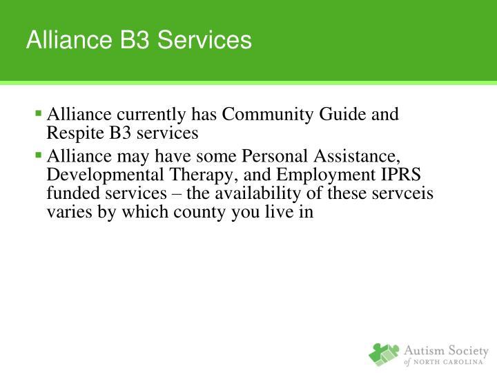 Alliance B3 Services