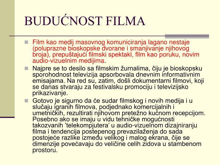 BUDUĆNOST FILMA