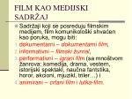 film kao medijski sadr aj