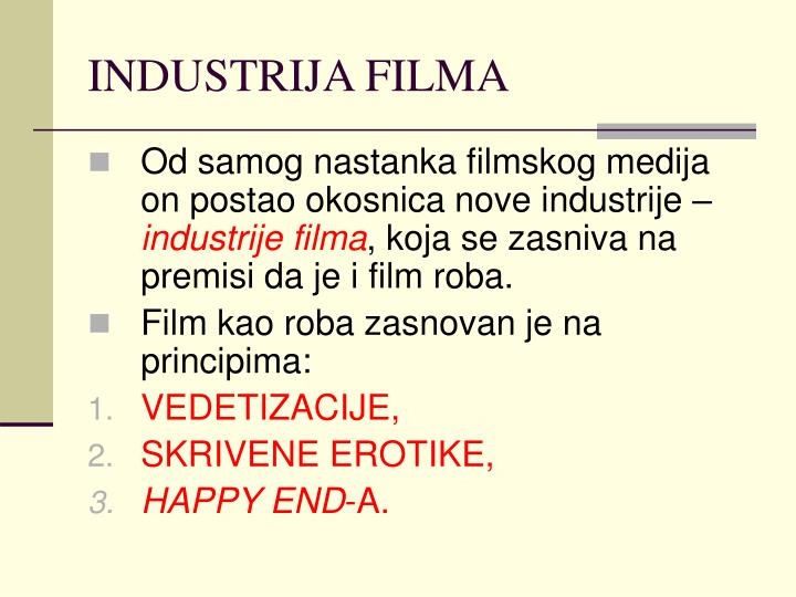 INDUSTRIJA FILMA