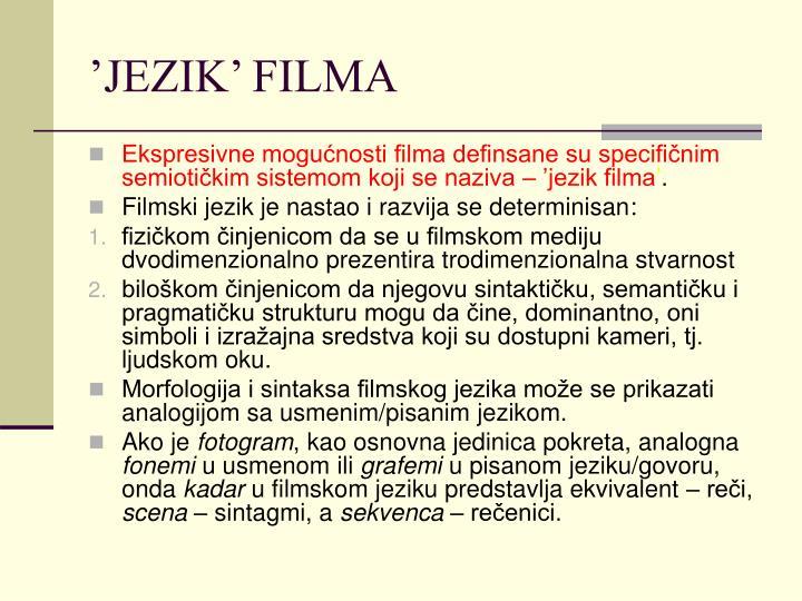 'JEZIK' FILMA