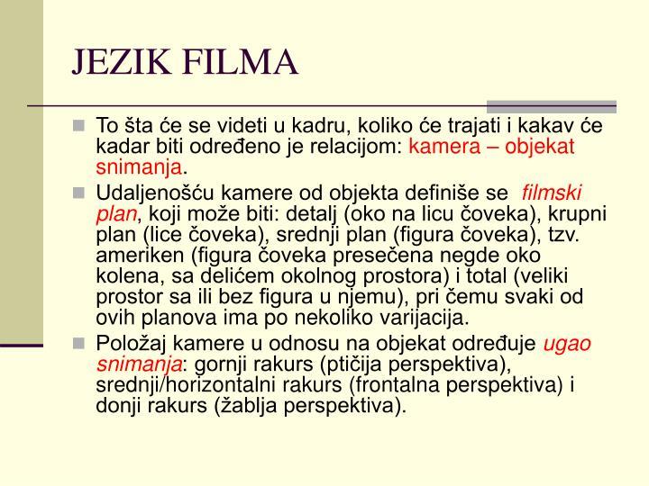 JEZIK FILMA