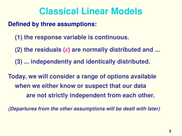 Classical linear models