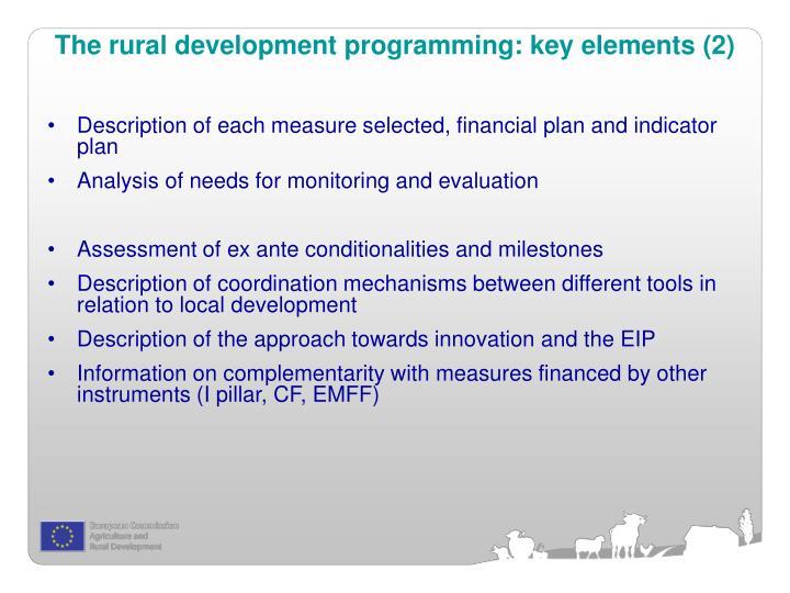 The rural development programming: key elements (2)