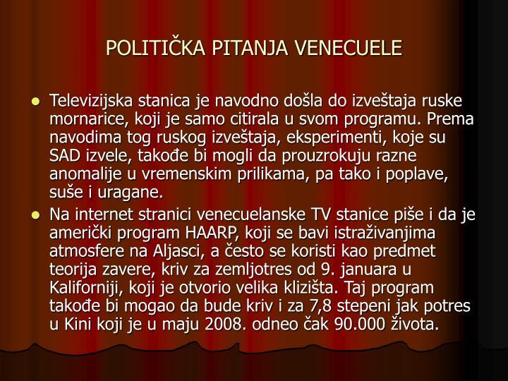 POLITIČKA PITANJA VENECUELE