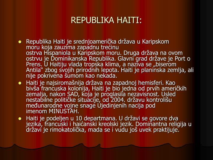 REPUBLIKA HAITI: