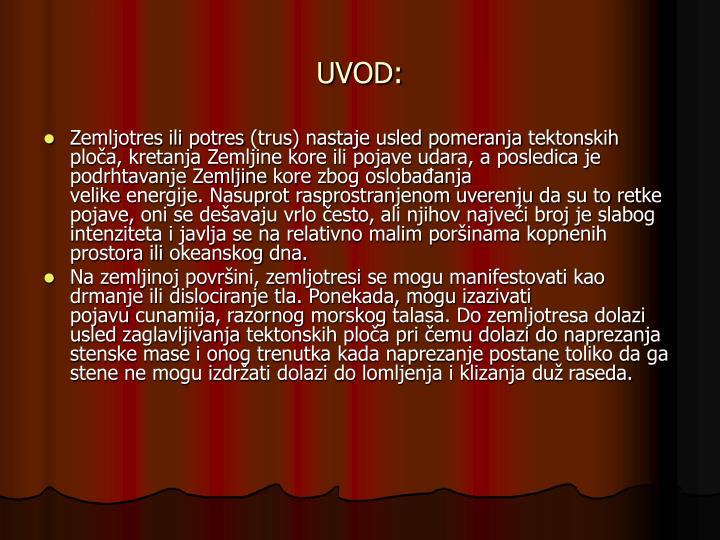 UVOD: