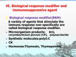 vi biological response modifier and immunosuppressive agent