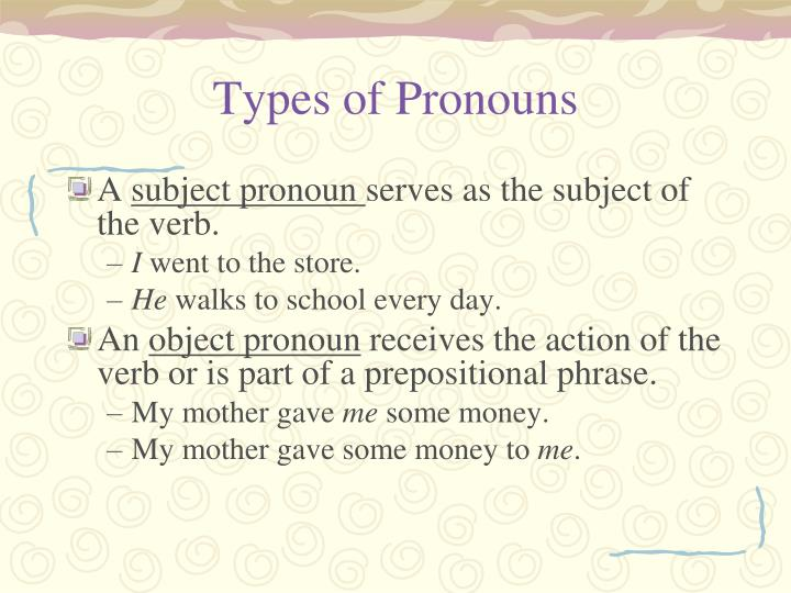 Types of Pronouns