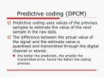 predictive coding dpcm