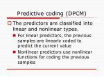 predictive coding dpcm1