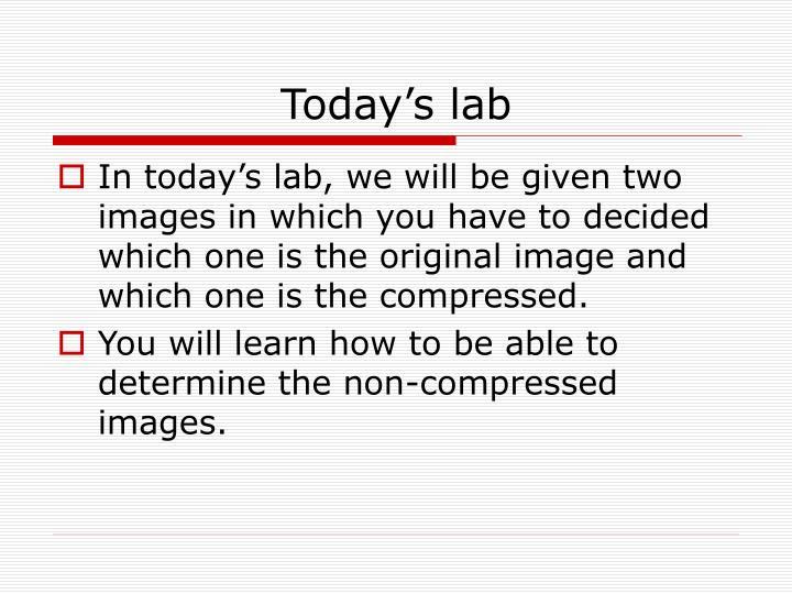 Today's lab
