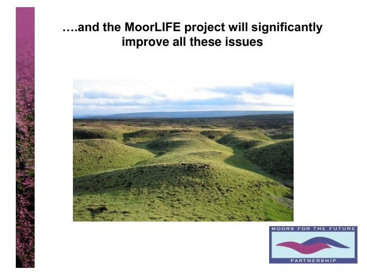 ….and the MoorLIFE project will significantly improve all these issues