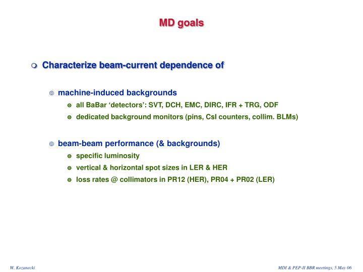 MD goals