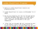 london blackfriars progress