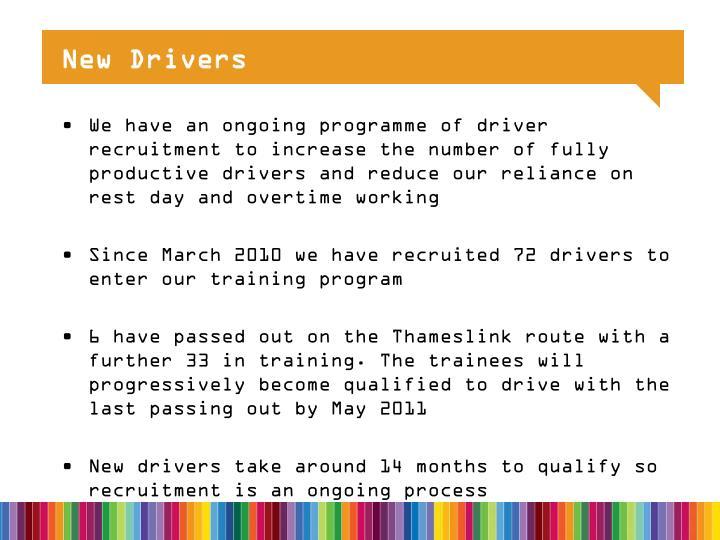 New Drivers