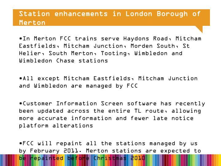Station enhancements in London Borough of Merton