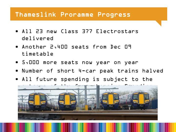 Thameslink Proramme Progress