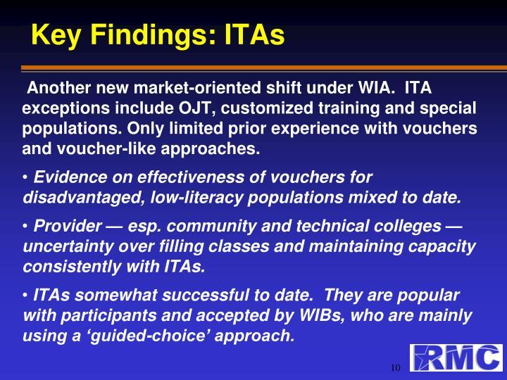 Key Findings: ITAs