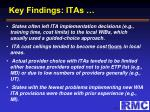 key findings itas1