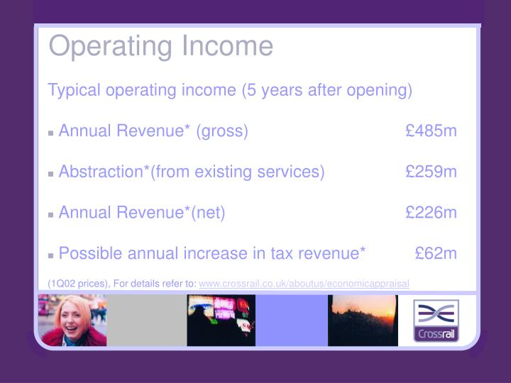 Typical operating income (5 years after opening)