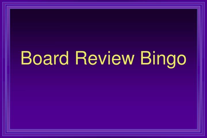 board review bingo