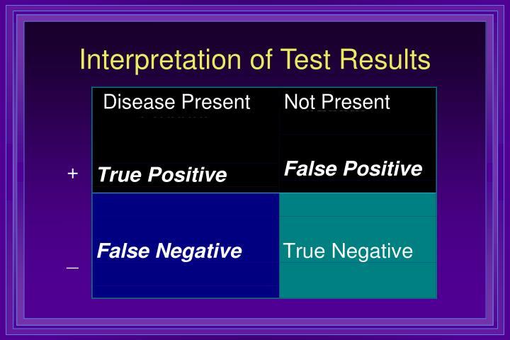 Interpretation of Test Results