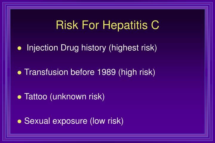 Risk For Hepatitis C