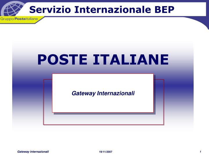 Servizio Internazionale BEP